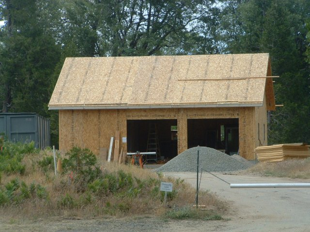 Palomar mountain home construction progression for Sip garage kits